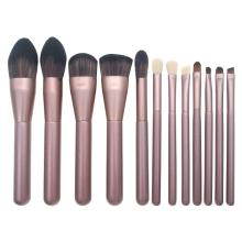 Makeup brush set goat hair makeup brushes golden rose makeup brush heads