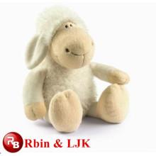 Weißes nettes Schafplüschspielzeug