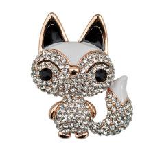 Moda Rhinestone Zinc aleación Fox Brooch para mujeres