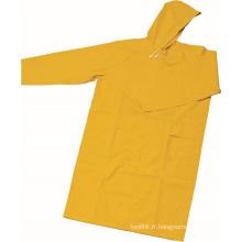 OEM imperméable de conception de mode de vêtements de travail de PVC / polyester de manteau de pluie