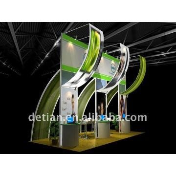 Diseño personalizado de la cabina de comida de Shanghai con materiales portátiles de aluminio