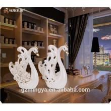 Ceramic craft swan ceramic craft figure swan wedding favour ceramic craft guangzhou wholesale supplier