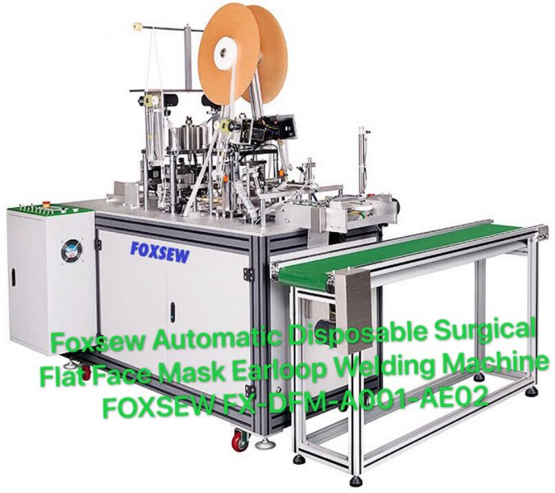 Foxsew Automatic Disposable Surgical Flat Face Mask Earloop Welding Machine FOXSEW FX-DFM-A001-AE02