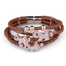 Bracelet en cuir pu puissant pour hommes NH00781