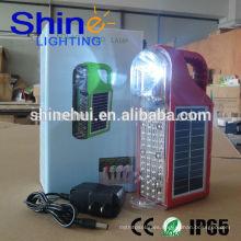 2015 Shinehui luz solar LED portátil con CE, ROHS e IP65 aprobación