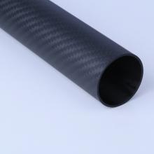 Tubo de fibra de carbono leve rígido 3K tecido