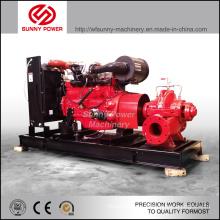 Pompe à eau de 10 pouces pour la lutte contre l'incendie entraînée par moteur diesel