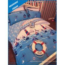 Die Navy Kinder Baumwoll Bettwäsche Duvet (Cover Set)