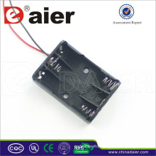 Daier 3x1.5v aaa battery with wire 3 aaa battery holder