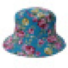 Eimer Hut mit Blumenstoff (BT076)