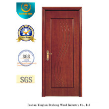 Simplified Style MDF Door for Interior with Brown Color (xcl-028)