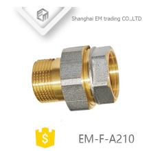 EM-F-A210 NPT threaded Nickel brass adapter pex pipe fitting