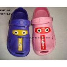 Mais recente design de sapatos de jardim eva moda chinelos para crianças (fbj521-12)