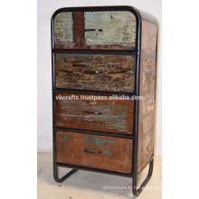 Cabinet de tiroir industriel recyclé