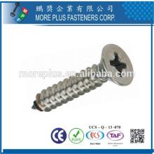 Fabricado em Taiwan M2.7X7mm Miniatura Nickel Phillips Countersunk Head Self Tapping Screws