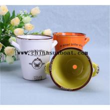 Émail, décoration, petit, joli, pot de fleurs