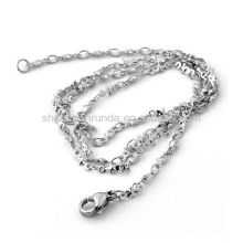 Accesorios de joyería de moda para collar de cadena de acero inoxidable con estrellas