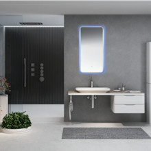 Espejo de baño rectangular LED MH16 (R50)