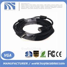 KuYia High Quality HD15pin 3 + 6 VGA к VGA кабелю для проектора, LCD 1.5m, 1.8m, 2m, 3m, 5m, 10m, 20m, 30m, 40m, 50m, 60m ...
