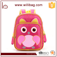 China Supplier Wholesale Owl Cartoon Kid Bags For Child School Bag