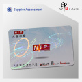 84*52mm Id Card Hologram Laminated Overlay for PVC card