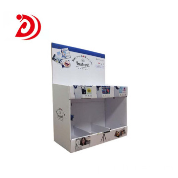 Double tabletop cardboard display stand