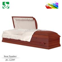 lits de cercueil intérieur velours bois rouge