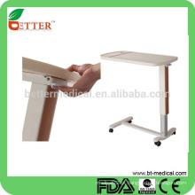 Mesa de cabeceira de plástico abs com rodízio