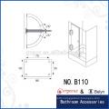 90 degree square bevel glass shower door pivot hinge