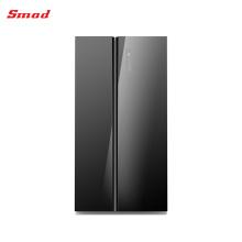 Réfrigérateur côte à côte à extrémité élevé en verre