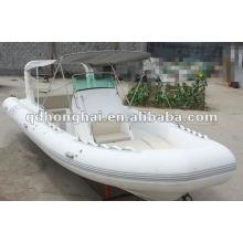 barco de casco de fibra de vidrio de lujo HH-RIB730B con CE