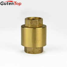 Gutentop High Quality Water Vertical Spring Flap Brass Check Valve with Brass Core