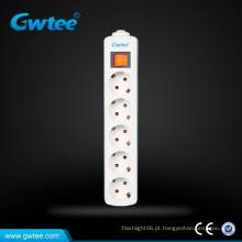 Design de 5 vias EU 3 soquetes de extensão de alimentação eléctrica