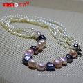 Latest Designs Fashion Baroque Rice Pearl Necklace (E130138)