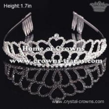 Rhinestone Heart Shaped Pageant Tiaras
