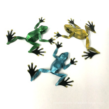 Metal 3D Frog Wall Decoration for Home and Garden