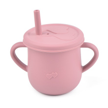 Silicone Baby Drinking Cup Non Spilling Baby Silicone Straw Cup Baby Toddler Cup With Straws