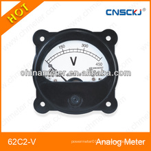 62C2-V DC round analog panel voltmeter
