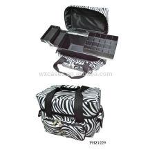 venda quente & saco impermeável maquiagem com 3 bandejas dentro fabricante