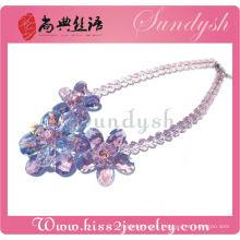 Gargantilha de cristal artesanal exclusiva para colar da Sundysh