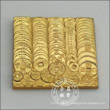 Square Gold Badge, Metal Lapel Pin (GZHY-BADGE-003)
