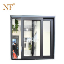 Double leaf aluminum commercial frosted glass door