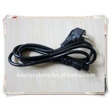 NOUVEAU PREMIUM EU 2 Prong Adaptateur pour ordinateur portable Cordon d'alimentation Câble Câble 2 broches NOIR Européen