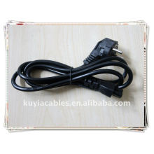 BRAND NEW PREMIUM EU 2 Prong Laptop Adapter Power Cord Cable Lead 2-Pin BLACK European