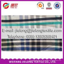 2014 venta caliente más reciente de China T / C y algodón teñido de stock stock de tela stocklot tela para hombre de la camisa