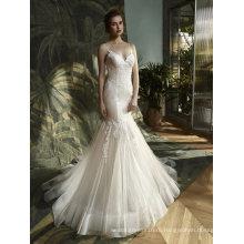 Спагетти Кружева Вечерние Русалка Свадебное Платье Свадебное Платье