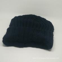 Теплый зимний шапочка вязаный колпачок с собственным логотипом