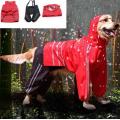 Capa de chuva com capuz dupla camada para cães grandes
