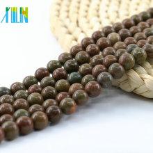 L-0132 Lindo Natural Rodada Polido Colorido Jasper Natural Gemstone Beads 15 polegada Strand Por Strand