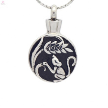 Enamel memorial jewelry for ashes, cremation ashes keepsake urn pendants